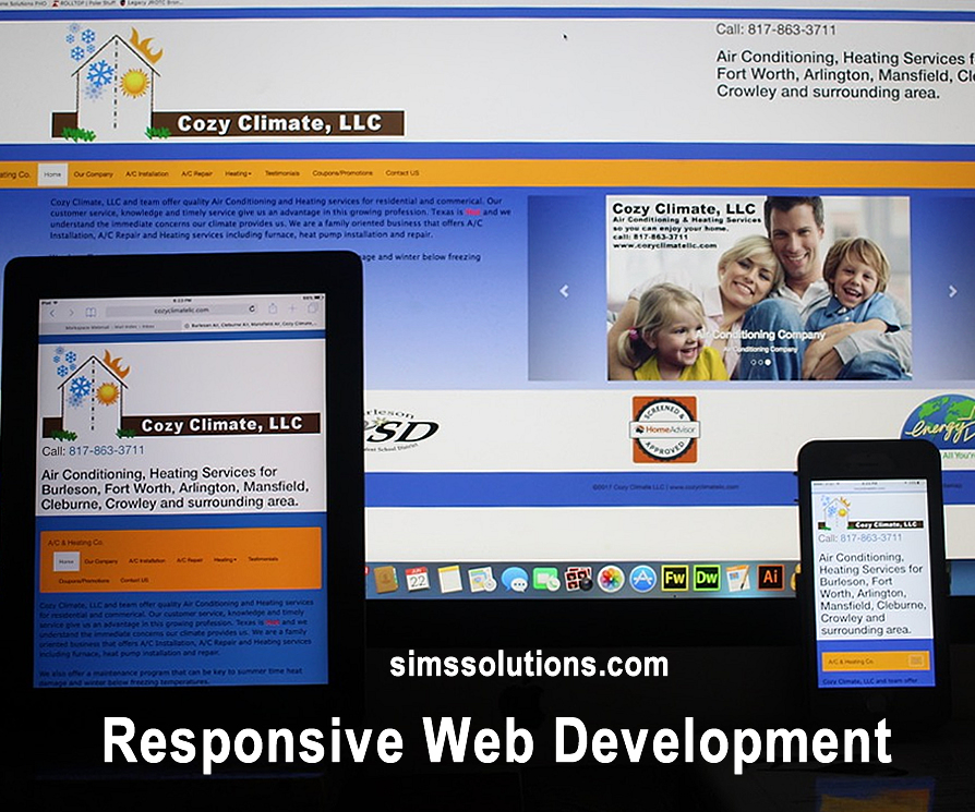 Responsive Web Design | Mobile Website Design by Sims Solutions