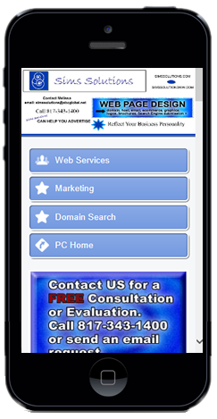 Sims Solutions can create a Mobile Website for your business.