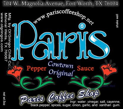 Paris Coffee Shop, Ft. Worth, TX private label