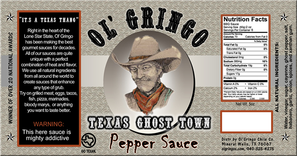 Pepper Sauce Label
